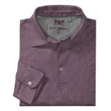 Hickey Freeman Cross Dye Jacquard Polo Shirt - Long Sleeve (For Men)