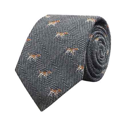 Hickey Freeman Dog Tie - Silk (For Youth) in Grey - Closeouts