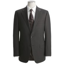 Hickey Freeman Double-Beaded Stripe Suit - Worsted Wool (For Men) in Charcoal/Brown - Closeouts
