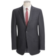 Hickey Freeman Double Beaded Stripe Suit - Worsted Wool (For Men) in Navy - Closeouts