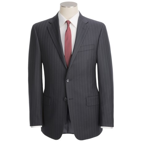 Hickey Freeman Double Beaded Stripe Suit - Worsted Wool (For Men) in Navy