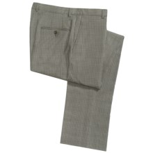 Hickey Freeman Dress Pants - Worsted Wool, Flat Front (For Men) in Multi - Closeouts