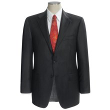 Hickey Freeman Dual Tonal Stripe Suit - Worsted Wool (For Men) in Black - Closeouts