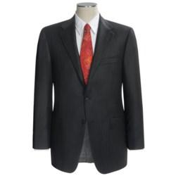 Hickey Freeman Dual Tonal Stripe Suit - Worsted Wool (For Men) in Black