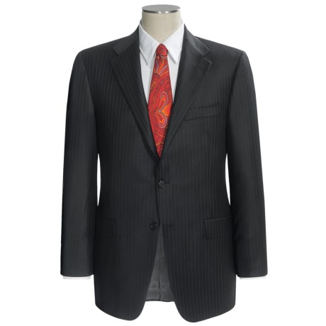 Hickey Freeman Dual Tonal Stripe Suit - Worsted Wool (For Men) in Black
