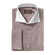 Hickey Freeman Fancy Dress Shirt - Long Sleeve (For Men) in Brown - Closeouts