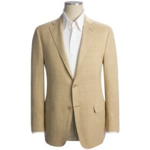 Hickey Freeman Fancy Solid Sport Coat - Linen-Silk (For Men) in Tan - Closeouts