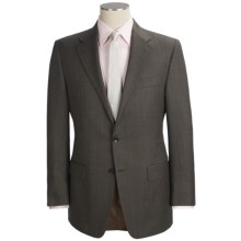 Hickey Freeman Fancy Solid Suit - Worsted Wool (For Men) in Dark Brown - Closeouts