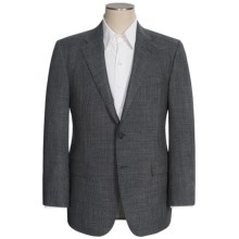 Hickey Freeman Fancy Sport Coat - Wool-Silk (For Men) in Charcoal/Blue - Closeouts