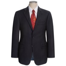 Hickey Freeman Fine Multi-Stripe Suit - Worsted Wool (For Men) in Black/Blue - Closeouts