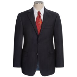 Hickey Freeman Fine Multi-Stripe Suit - Worsted Wool (For Men) in Black/Blue
