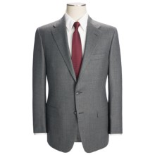 Hickey Freeman Flannel Windowpane Suit - Worsted Wool (For Men) in Mid Grey - Closeouts