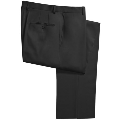 Hickey Freeman Gabardine Dress Pants - Worsted Wool (For Men) in Black