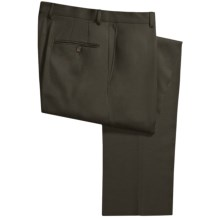 Hickey Freeman Gabardine Dress Pants - Worsted Wool (For Men) in Charcoal Grey - Closeouts