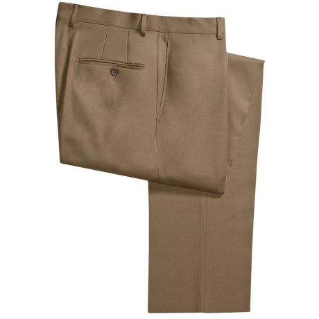 Hickey Freeman Gabardine Dress Pants - Worsted Wool (For Men) in Mocha