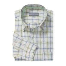 Hickey Freeman Getaway Sport Shirt - Linen, Long Sleeve (For Men) in Cobalt - Closeouts
