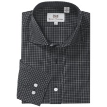 Hickey Freeman Gingham Check Sport Shirt - Long Sleeve (For Men) in Black - Closeouts
