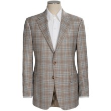 Hickey Freeman Glen Plaid Sport Coat - Wool-Silk (For Men) in Brown/Blue - Closeouts
