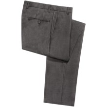 Hickey Freeman Heathered Worsted Wool Dress Pants (For Men) in Charcoal Heather - Closeouts