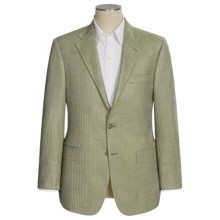Hickey Freeman Herringbone Sport Coat - Cashmere-Silk, B-Body (For Men) in Green - Closeouts