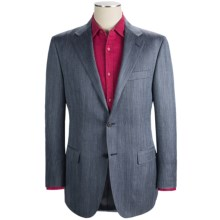 Hickey Freeman Herringbone Sport Coat - Wool-Silk-Linen (For Men) in Med Blue - Closeouts