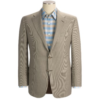Hickey Freeman Houndstooth Sport Coat - Linen-Wool (For Men) in Med Brown