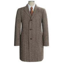 Hickey Freeman Lama Fancy Topcoat (For Men) in Brown - Closeouts