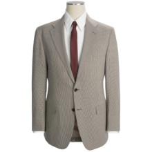 Hickey Freeman Mini Houndstooth Suit - Wool (For Men) in Brown Multi - Closeouts