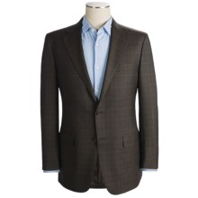 Hickey Freeman Mini Multi Check Sport Coat - Worsted Wool (For Men) in Brown - Closeouts