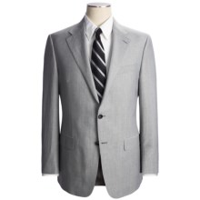 Hickey Freeman Mini-Stripe Suit - Wool-Linen (For Men) in Light Grey - Closeouts