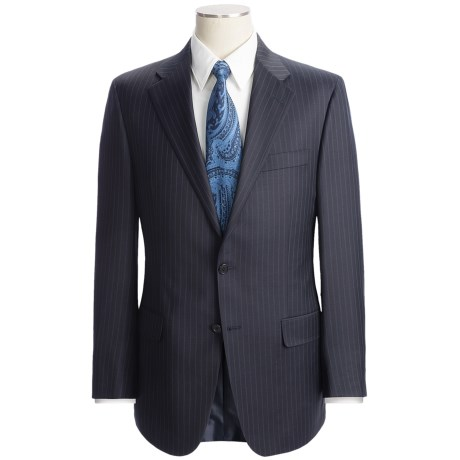 Hickey Freeman Multi-Beaded Stripe Suit - Worsted Wool (For Men) in Charcoal/Brown