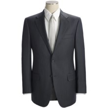 Hickey Freeman Multi-Beaded Stripe Suit - Worsted Wool (For Men) in Charcoal/Blue - Closeouts