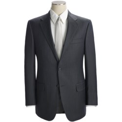 Hickey Freeman Multi-Beaded Stripe Suit - Worsted Wool (For Men) in Charcoal/Blue