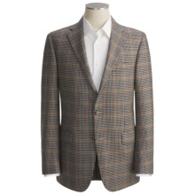 Hickey Freeman Multi-Check Sport Coat - Cashmere (For Men) in Cream/Navy/Rust - Closeouts