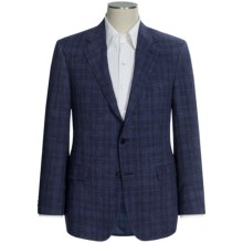 Hickey Freeman Multi-Check Sport Coat - Linen (For Men) in Blue - Closeouts