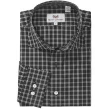 Hickey Freeman Multi-Check Sport Shirt - Long Sleeve (For Men) in Black - Closeouts