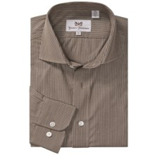 Hickey Freeman Multi-Check Sport Shirt - Long Sleeve (For Men) in Brown - Closeouts