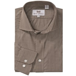 Hickey Freeman Multi-Check Sport Shirt - Long Sleeve (For Men) in Brown