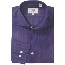 Hickey Freeman Multi-Check Sport Shirt - Long Sleeve (For Men) in Purple - Closeouts
