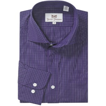 Hickey Freeman Multi-Check Sport Shirt - Long Sleeve (For Men) in Purple