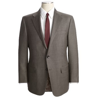 Hickey Freeman Nailhead Suit - Lindsey Model, Worsted Wool (For Men) in Brown/Black