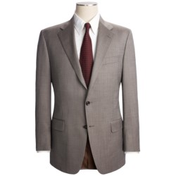Hickey Freeman Nailhead Suit - Worsted Wool (For Men) in Brown/White