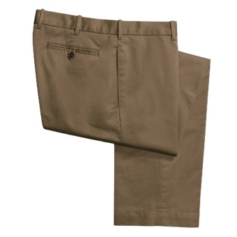 Hickey Freeman Pick-Stitch Chino Pants - Pima Cotton (For Men) in Bark