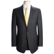Hickey Freeman Pin Dot with Faint Stripe Suit - Worsted Wool (For Men) in Charcoal - Closeouts