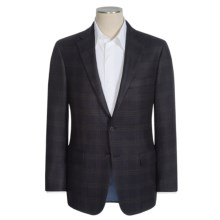 Hickey Freeman Plaid Sport Coat - Cerruti Worsted Wool (For Men) in Black - Closeouts