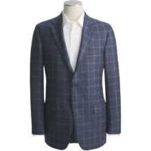 Hickey Freeman Plaid Sport Coat - Worsted Wool (For Men) in Medium Blue - Closeouts
