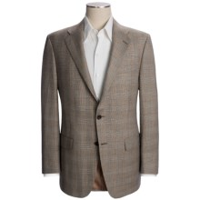 Hickey Freeman Plaid Sport Coat - Worsted Wool-Linen (For Men) in Med Brown - Closeouts