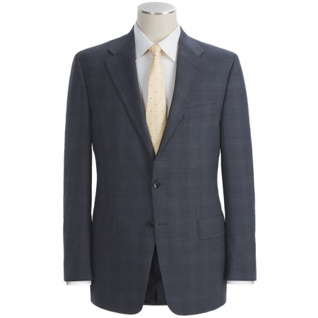 Hickey Freeman Plaid Suit - Pleated Pants (For Men) in Medium Blue