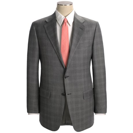 Hickey Freeman Plaid Suit - Worsted Wool (For Men) in Grey