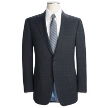 Hickey Freeman Plaid Suit - Worsted Wool (For Men) in Navy/Light Blue - Closeouts